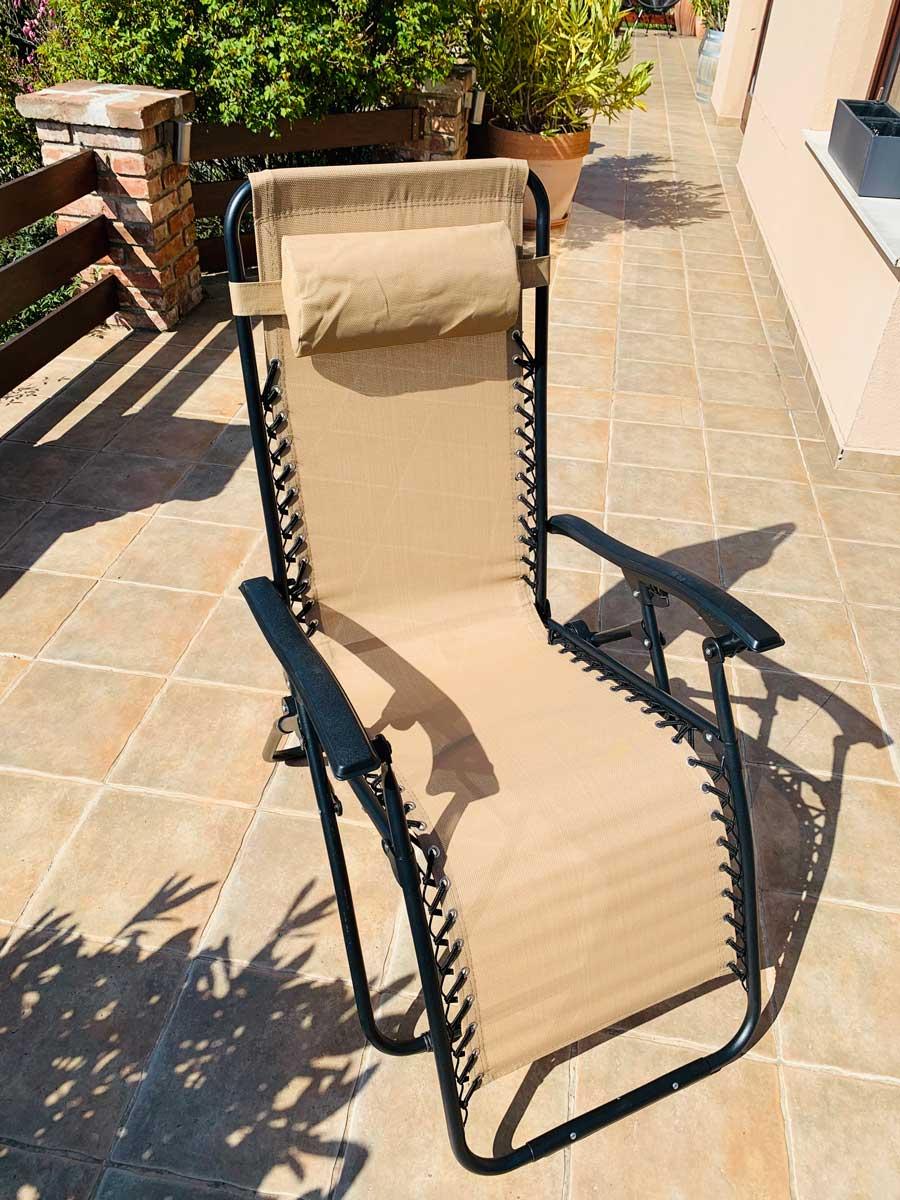 Amalfi relax kültéri összecsukható kempingszék