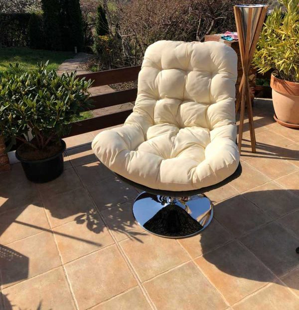 Caorle kültéri forgó fotel fehér