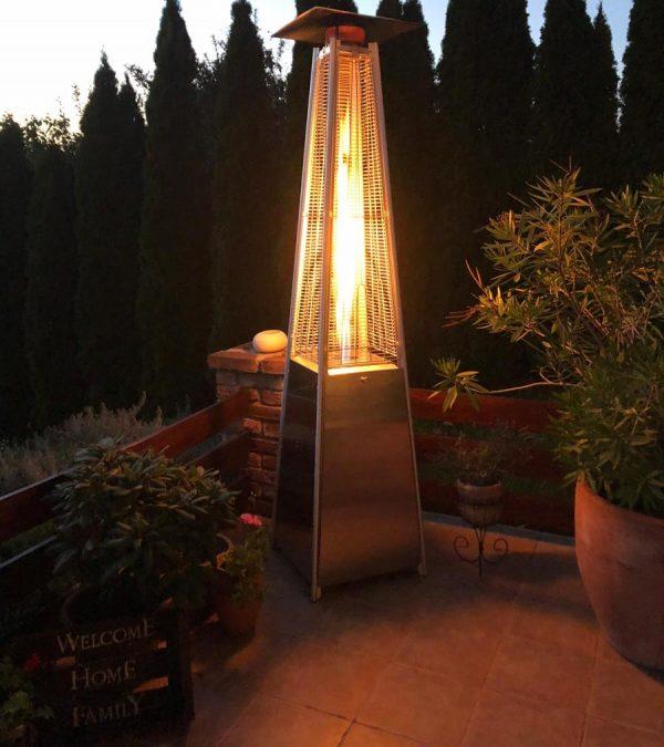 Livigno gázüzemű látvány hősugárzó INOX