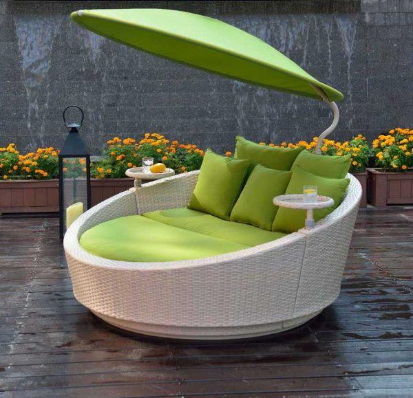 Monaco kerti garnitúra forgatható napernyővel