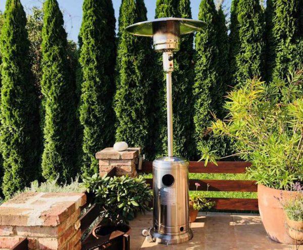 Paganella gázüzemű látvány hősugárzó gomba alakú INOX