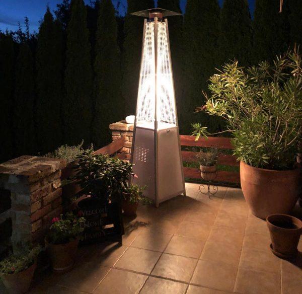 Vancouver gázüzemű látvány hősugárzó LED megvilágítással
