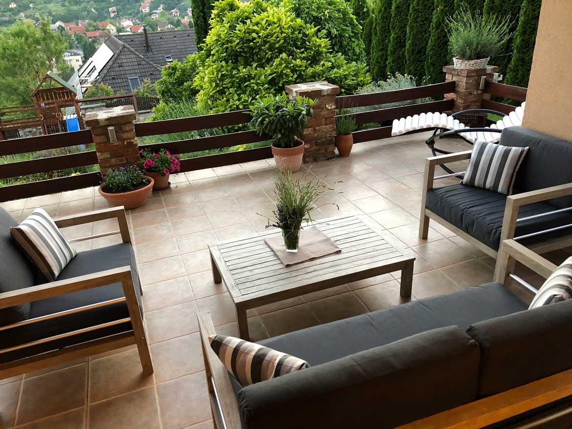 Sydney prémium fa kerti ülőgarnitúra szett