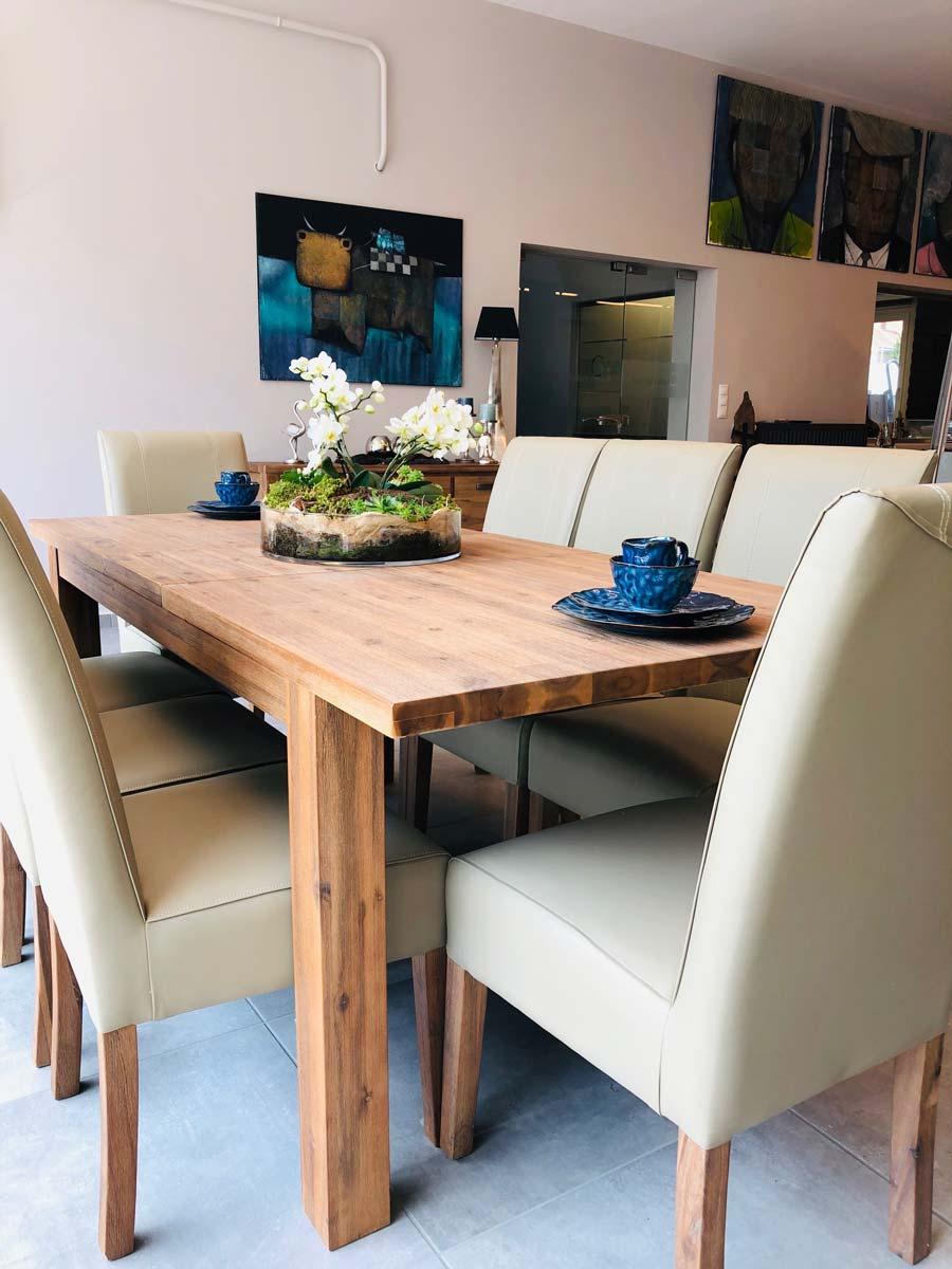 Tosca tömörfa kihúzható étkezőasztal