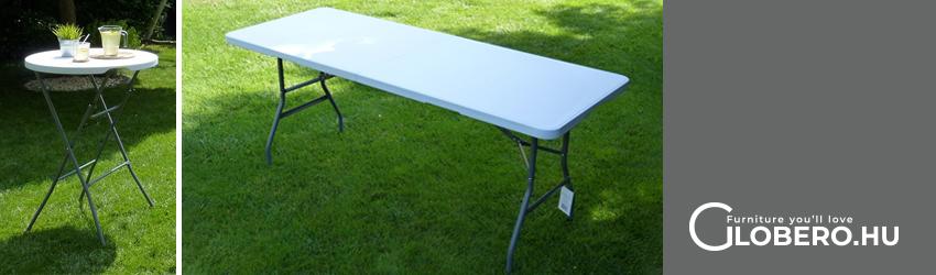 Kerti összecsukható asztal